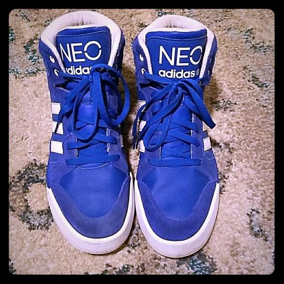 Blue & white Adidas NEO Ortholite Sneakers